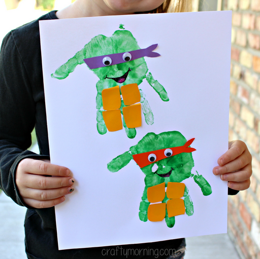 handprint-ninja-turtles-craft-for-kids