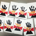 Handprint Vampire Halloween Craft for Kids