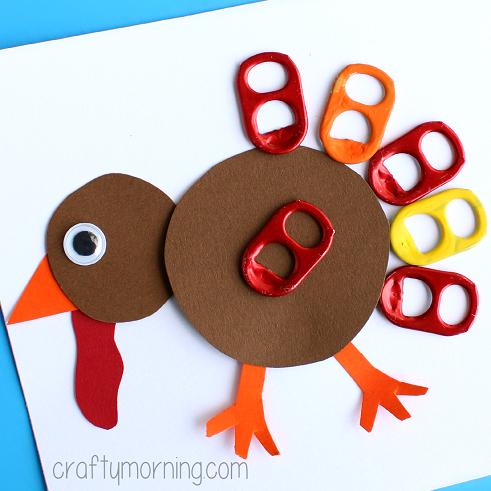 soda-pop-tab-thanksgiving-turkey-craft-for-kids