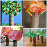 Toilet Paper Roll Tree Craft Ideas for Kids