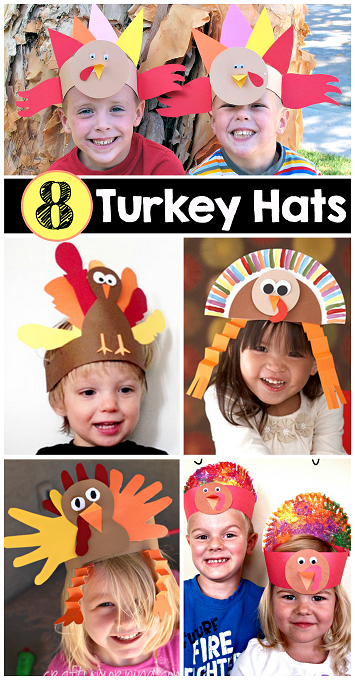 8-easy-turkey-hat-thanksgiving-crafts-for-kids