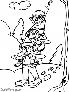 Free-elves-printable-coloring-page
