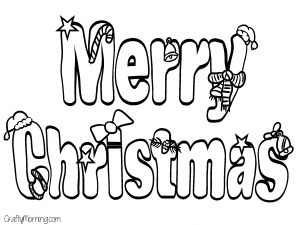 Free Printable Christmas Coloring Pages For Kids Crafty