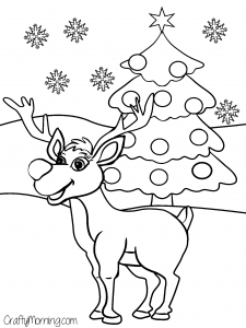 Rudolph-the-reindeer-christmas-coloring-page