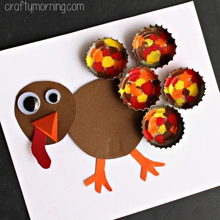 bottle-cap-turkey-craft-for-thanksgiving-