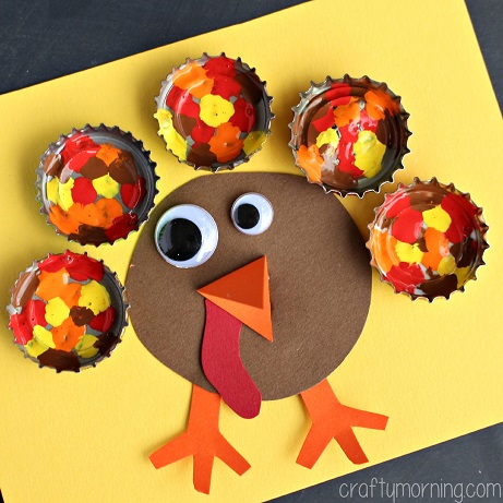 bottle-cap-turkey-craft