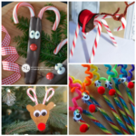 Candy Cane Reindeer Craft & Gift Ideas