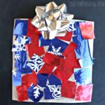 Cardboard Christmas Present Craft for Kids