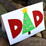 Make a Homemade Christmas Card for Dad