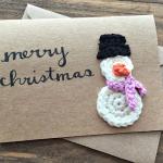 Crochet Snowman Christmas Card Idea