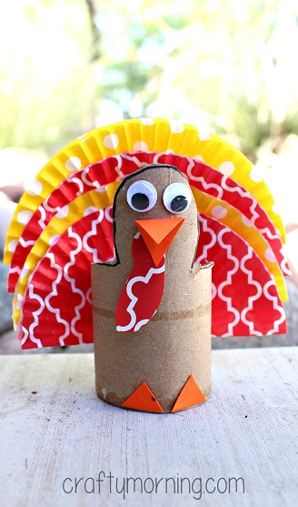cupcake-liner-cardboard-tube-turkey-craft-for-kids
