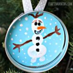 Fingerprint Frozen Olaf Christmas Ornament