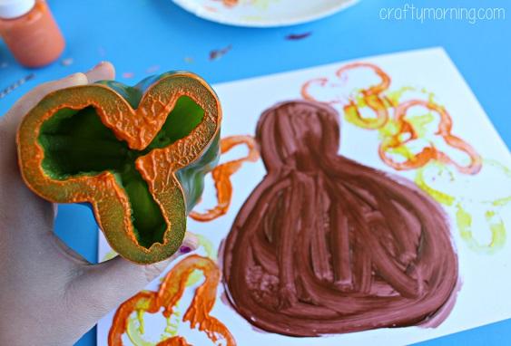 green-pepper-turkey-craft-for-kids