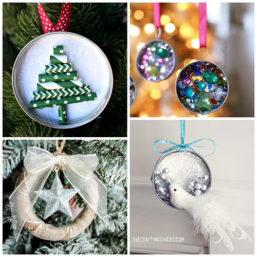 Mason Jar Lid Ornament Ideas To Make For Christmas Crafty Morning