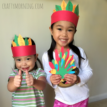 Easy Native American Headband Craft for Kids