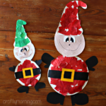 Paper Plate Elf Craft for Kids to Make at Christmas
