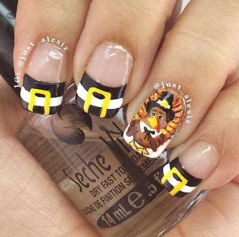 pilgrim-thanksgiving-nail-designs