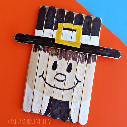 popsicle-stick-pilgrim-craft-for-kids