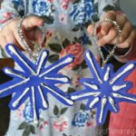 Q-Tip Snowflake Ornament Craft for Kids to Make