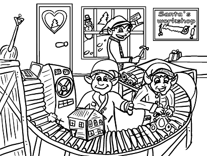 santas-workshop-elves-toys-coloring-page