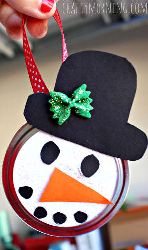 snowman-mason-jar-lid-ornament-craft-for-kids