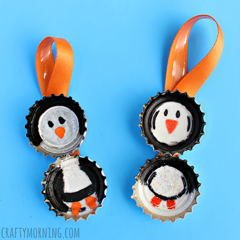 bottle-cap-penguin-ornaments-for-kids-to-make