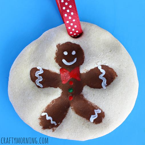 fingerprint-salt-dough-gingerbread-man-ornament-craft-for-kids