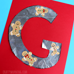 G is for Gingerbread Men Cookies (Letter Craft)