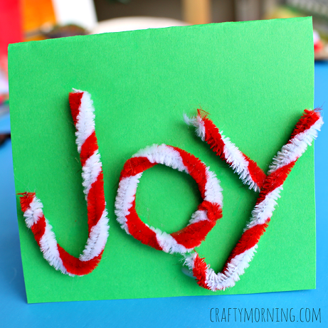 joy-pipe-cleaner-christmas-card-for-kids-to-make
