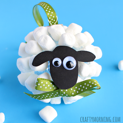 marshmallow-sheep-ornament-craft-for-christmas
