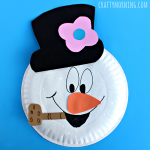 Paper Plate Frosty the Snowman Craft