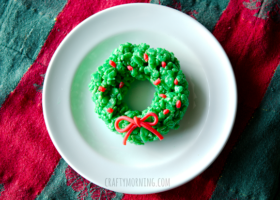 rice-krispie-wreath-christmas-dessert-idea