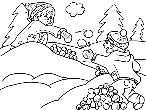 snowball-fight-kids-free-winter-coloring-page