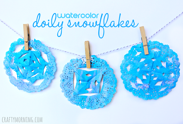 watercolor-doily-snowflake-craft-for-kids-