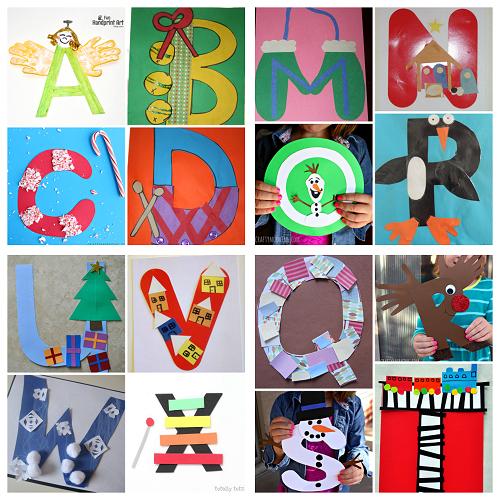 Winter/Christmas Alphabet Crafts for Kids