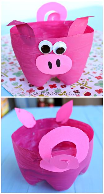 2-liter-bottle-pig-craft-for-kids-to-make-