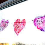 Coffee Filter Heart Garland for Valentine's Day