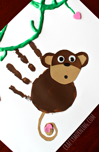 cute-handprint-monkey-craft-for-kids