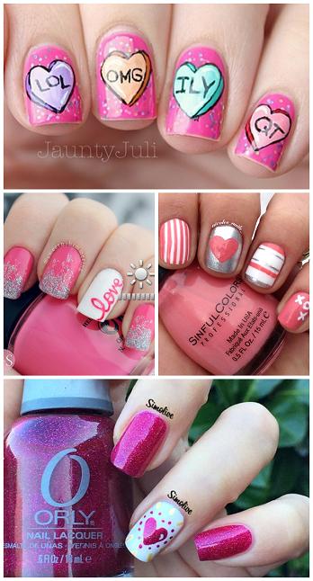 Adorable Valentine\u0027s Day Nail Ideas , Crafty Morning