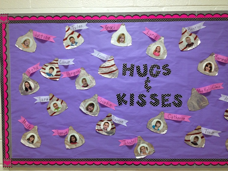 hugs-hershey-kisses-valentines-day-bulletin-board