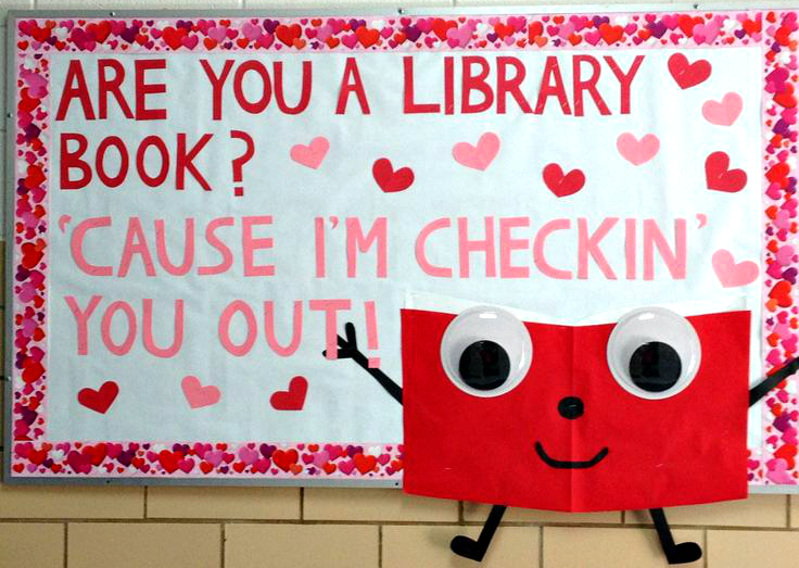library-book-valentines-day-bulletin-board