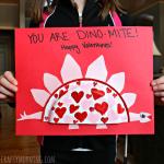 Mini Paper Plate Dinosaur Valentine Craft