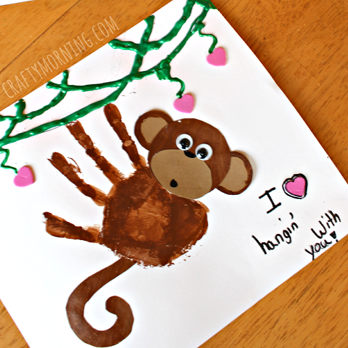 valentine-handprint-monkey-craft-for-kids