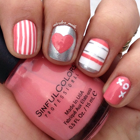 valentines-day-xoxo-nail-designs