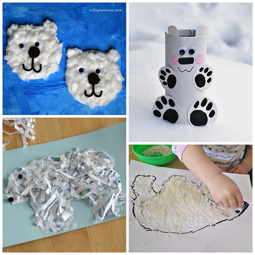 Winter Polar Bear Crafts For Kids To Make Crafty Morning