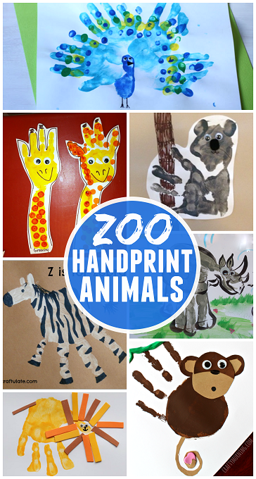 Handprint Animal Art Ideas