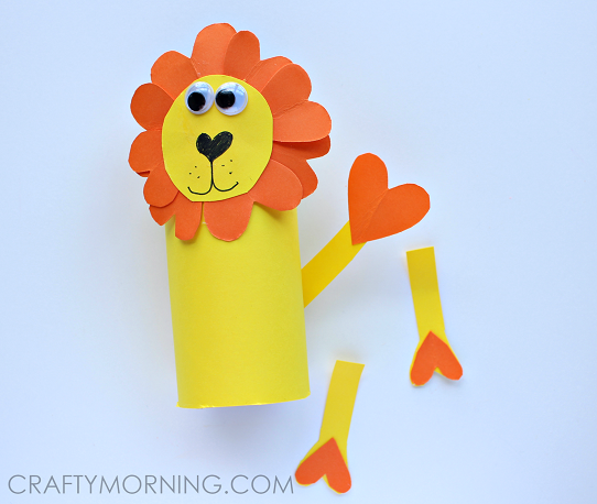 HEART-SHAPE-LION-TOILET-ROLL-CRAFT