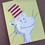 Cat in the Hat Popsicle Stick Craft (Free Printable)