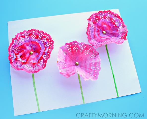 doily-flower-spring-craft-for-kids-to-make