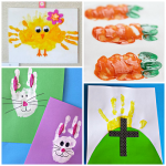 Easter Handprint and Fingerprint Crafts for Kids